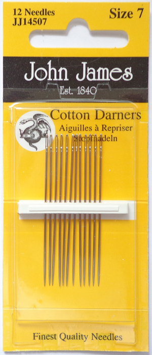 John James cotton darner needles