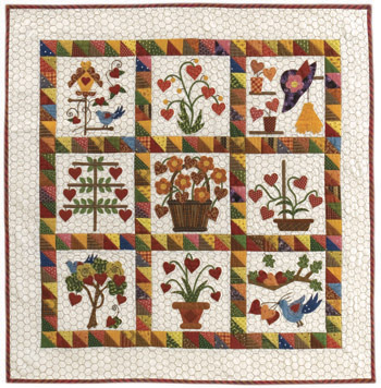 Janet Locey's Flowering Hearts quilt