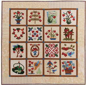 Growing Hearts quilt