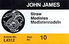 John James milliner/straw needles