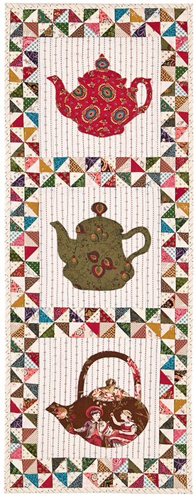Pinwheels and Tea quilt