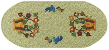 Jean Post's Batik Baskets table runner